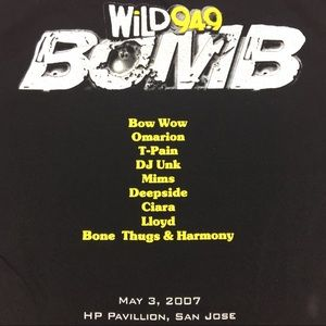 Alstyle Shirts - 2007 Wild 94.9 BOMB 2Sided Graphic Rap/R&B Concert